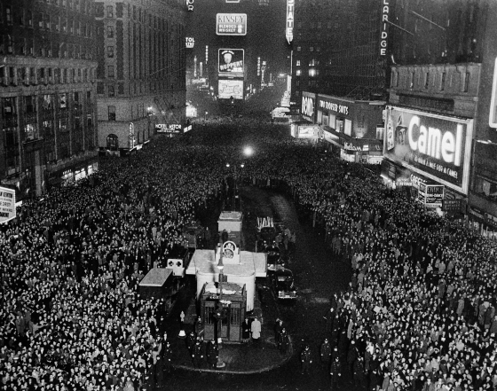 New Years Eve At Times Square 1940
